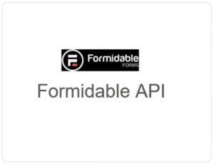 Formidable Forms – API
