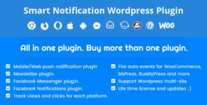 Smart Notification WordPress Plugin. Web & Mobile Push, FB...