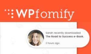 WPfomify – WordPress Plugin