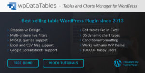 wpDataTables – Tables and Charts Manager for WordPress